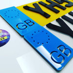 4D Badge Black Laser Cut Number Plate-PL8 LAB