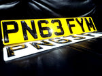 3D Black Gel Number Plate-PL8 LAB