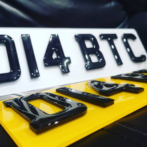 4D Black on Black Laser Cut Number Plate-PL8 LAB
