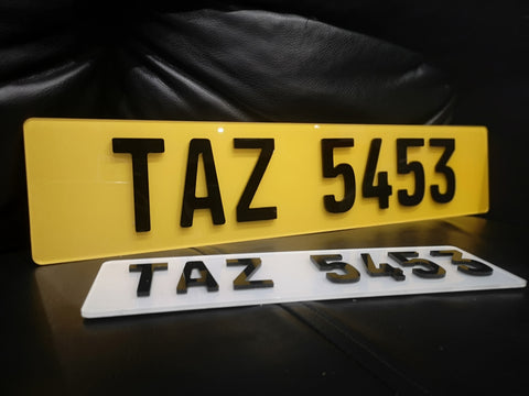 4D German Laser Cut Number Plate-PL8 LAB