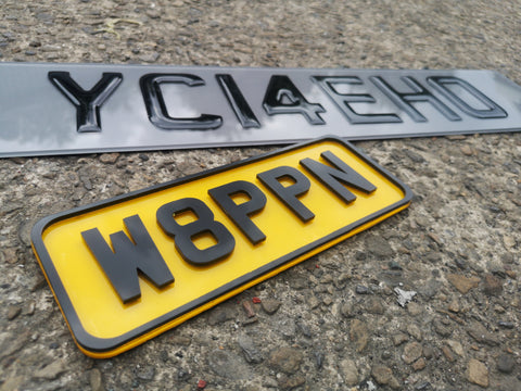 4D Bike Number Plate-PL8 LAB