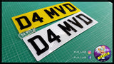 SINGLE 3D Black Gel Number Plate-PL8 LAB