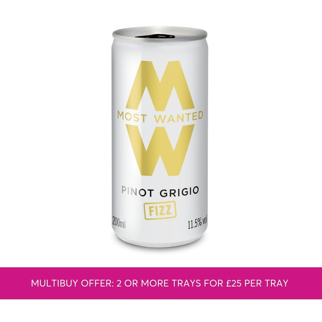 Most Wanted Pinot Grigio Fizz cans 12x200ml