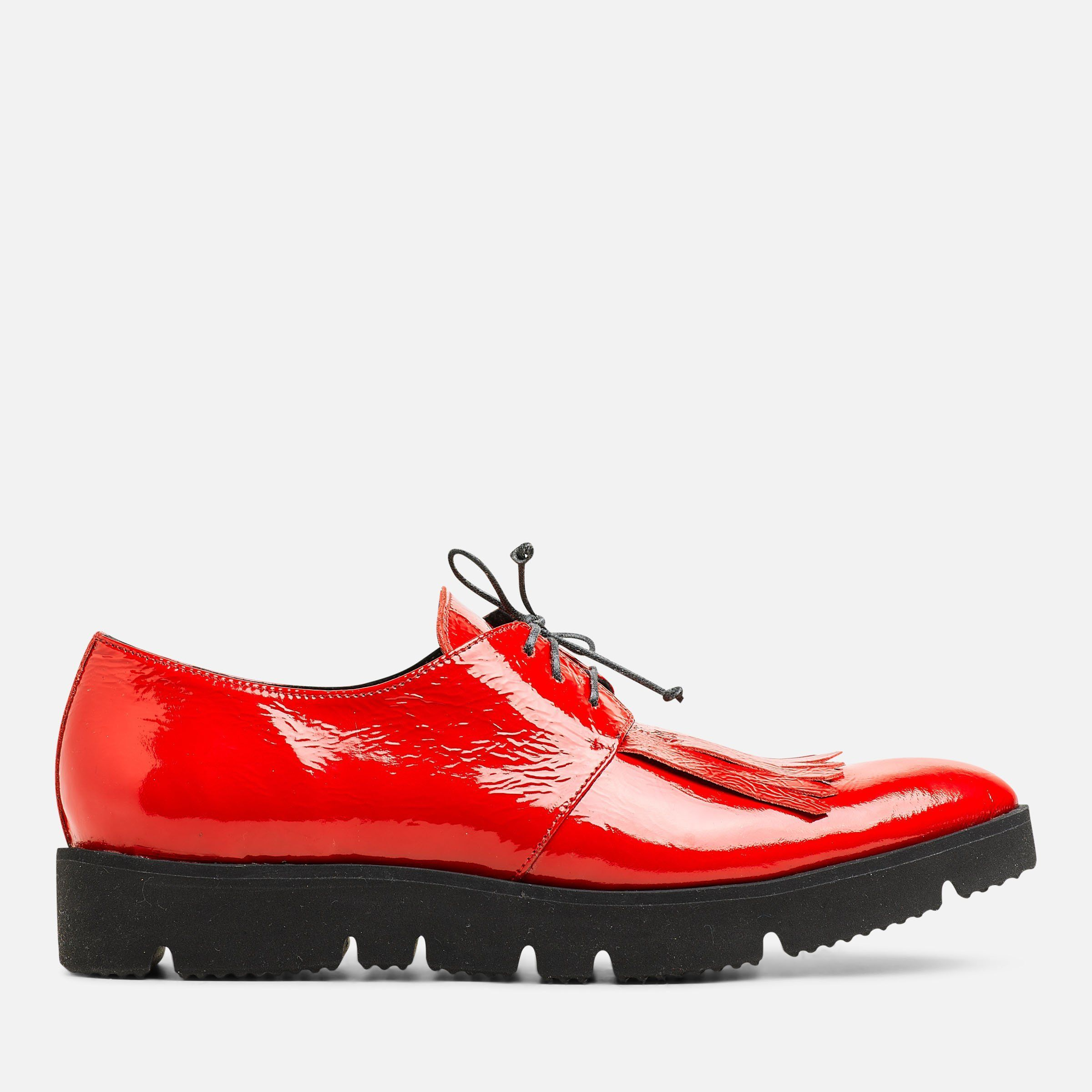 RED PATENT CREEPER