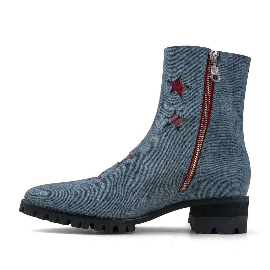 SPECIAL EDITION DENIM BOLT HANDLER BOOT TALL W/ ZIPPER