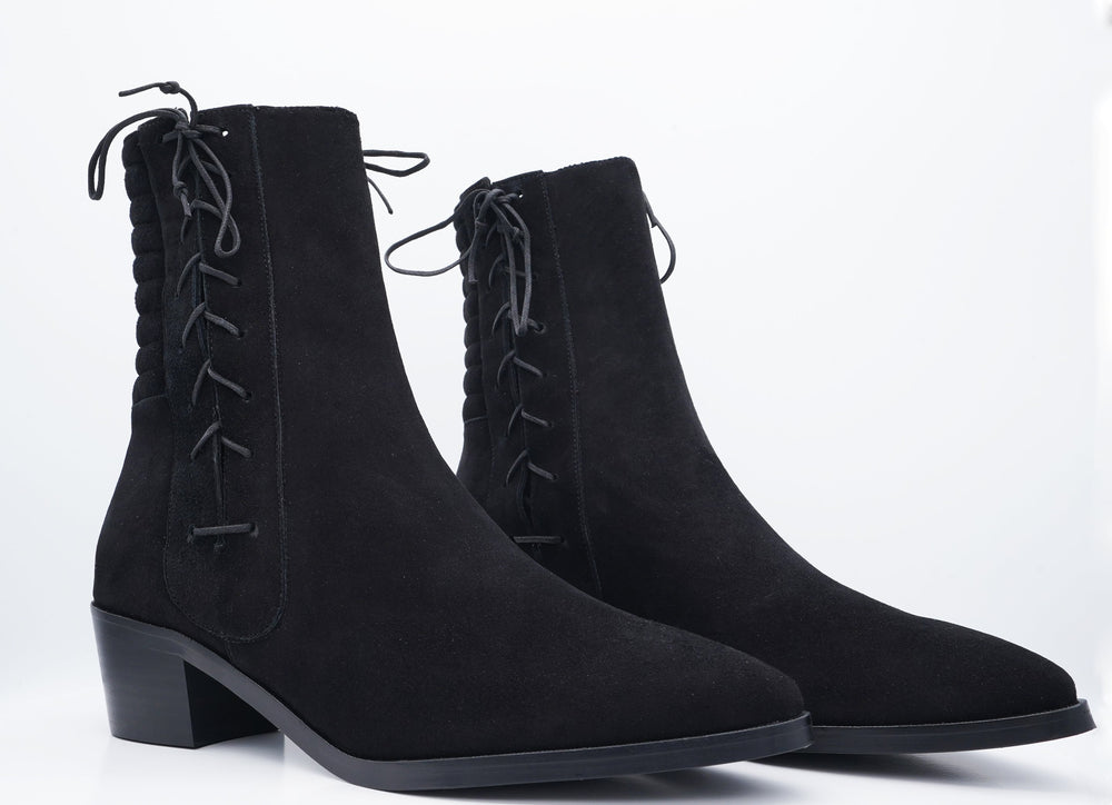 HARLEY BOOT BLACK SUEDE