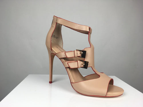 NUDE CUT-OUT HIGH HEEL