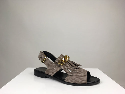 CHAIN AND FRINGE SANDAL