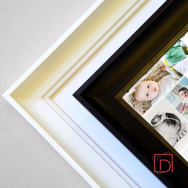 Sheep  Design Kids 5 photos Frame , Personalised new baby picture frame , wall art, white frame Corner view, domore.ie