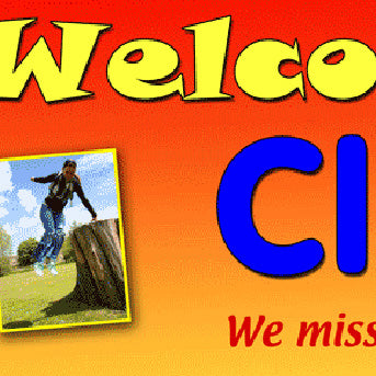 Welcome Home Party Personalised Banner