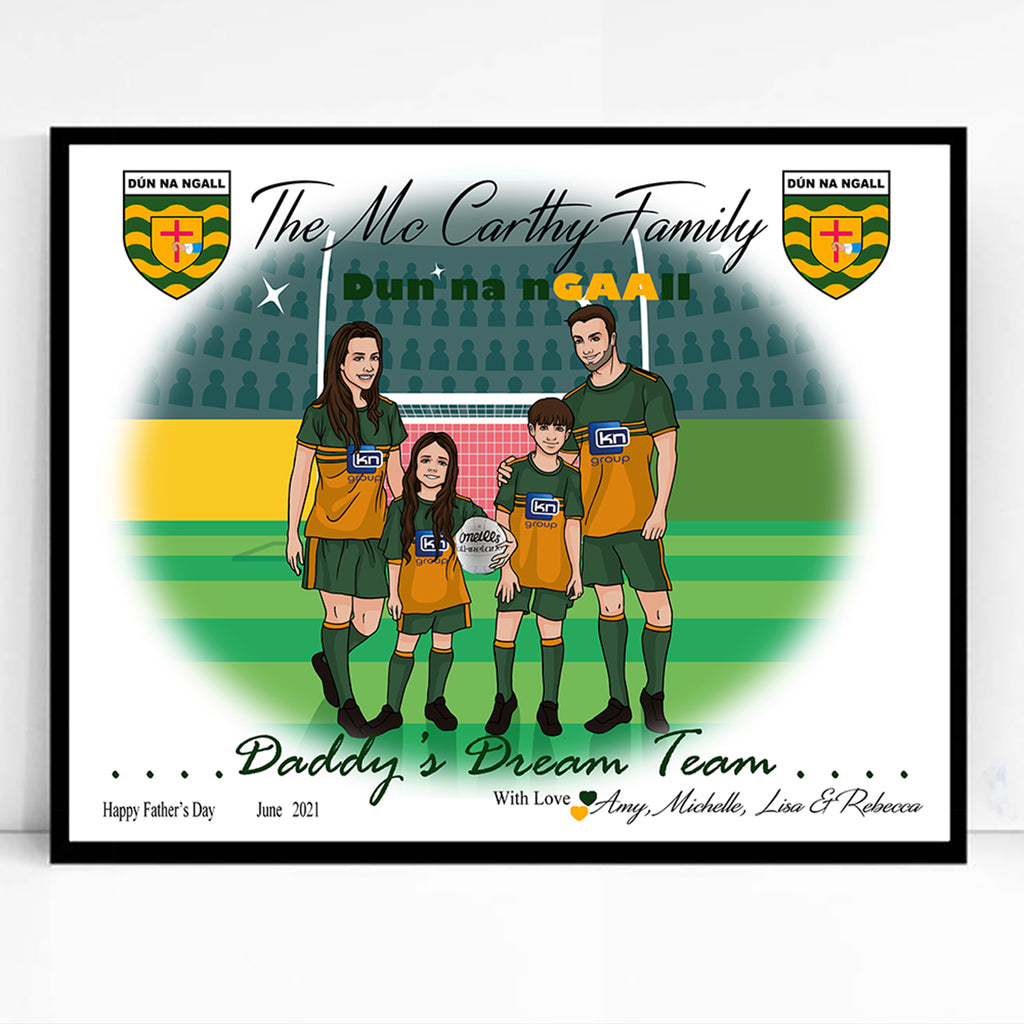 Dads Family Dream team Caricature Portrait