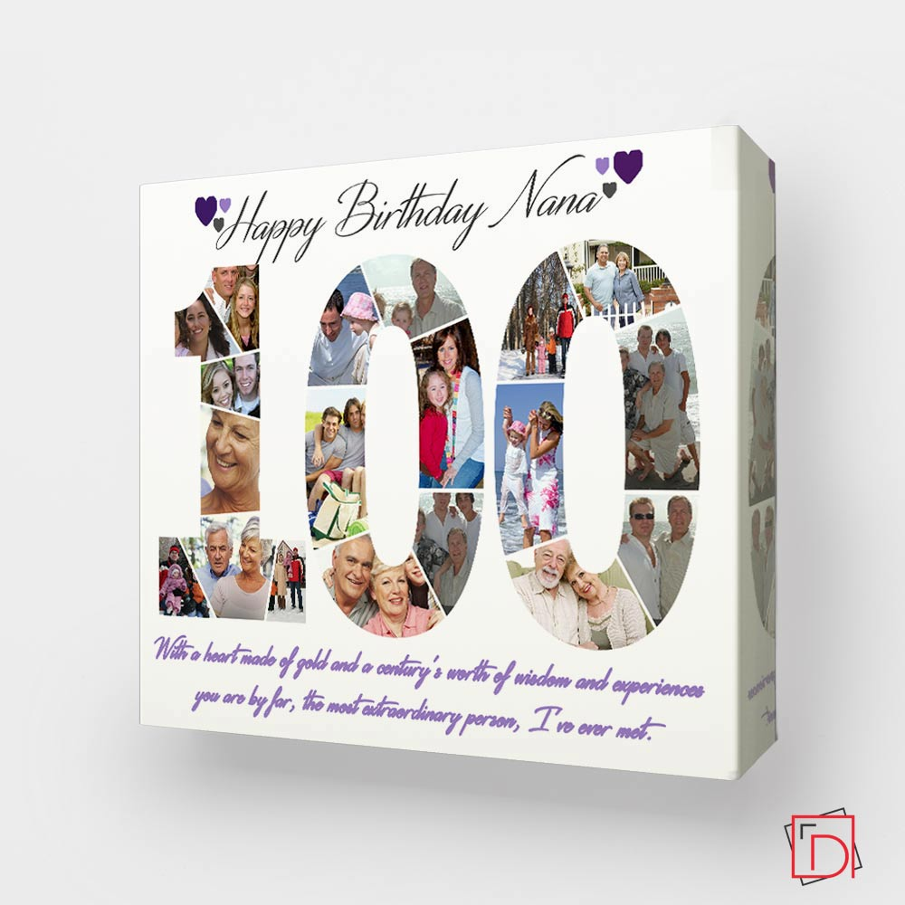 This Is Your 100th Birthday Celebration Framed Photo Collage