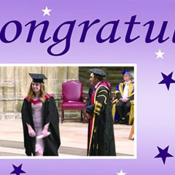 Graduation Party Personalised Photo Banner