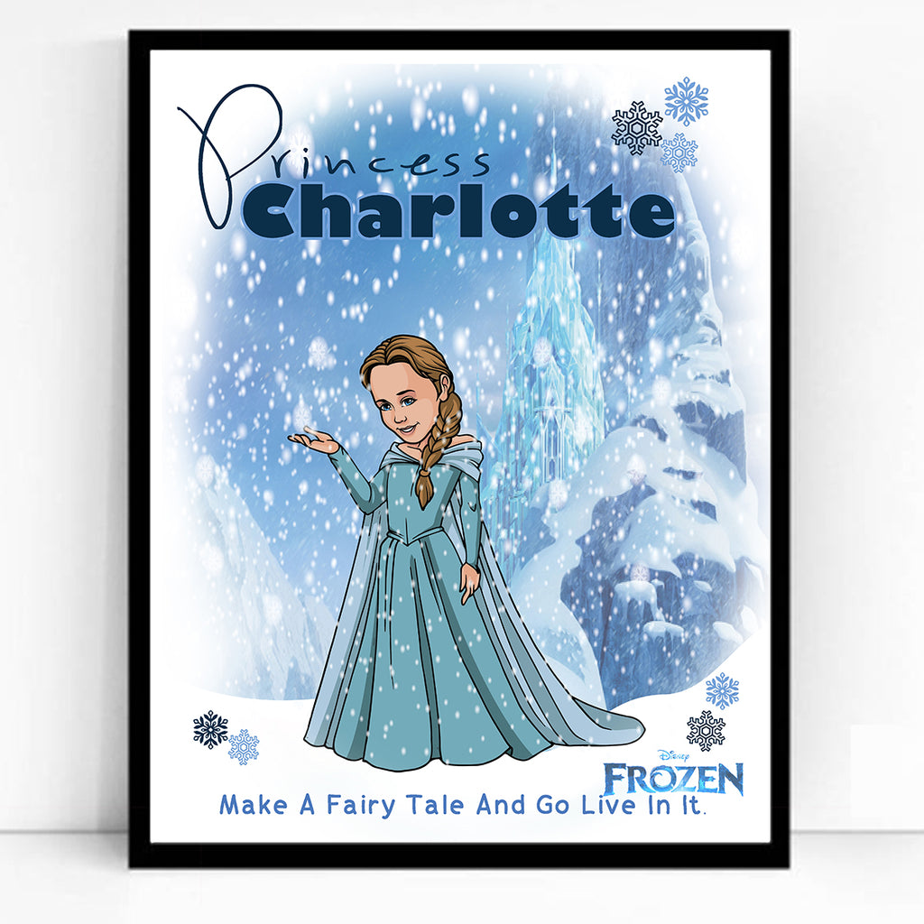 The Little Frozen Princess Child Caricature Portrait
