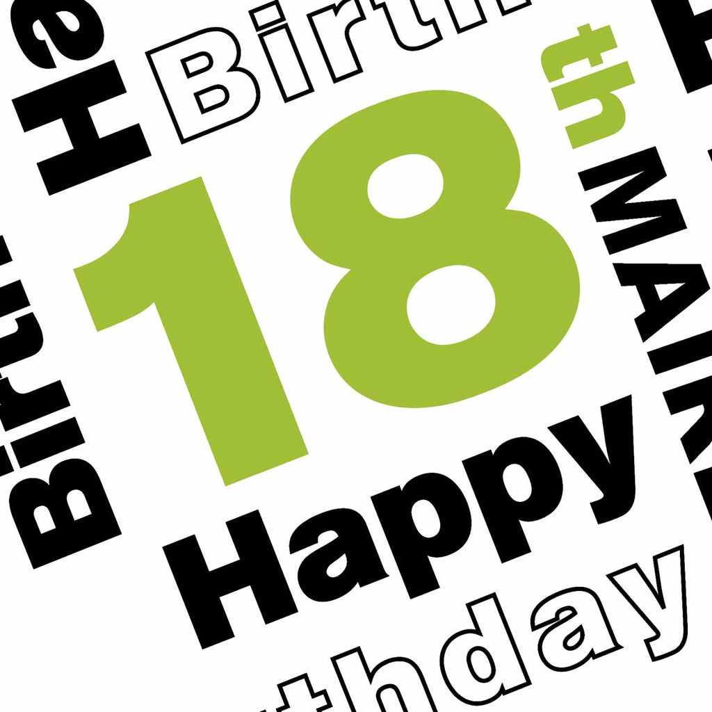 Happy 18th Party Personalised Photo Banner