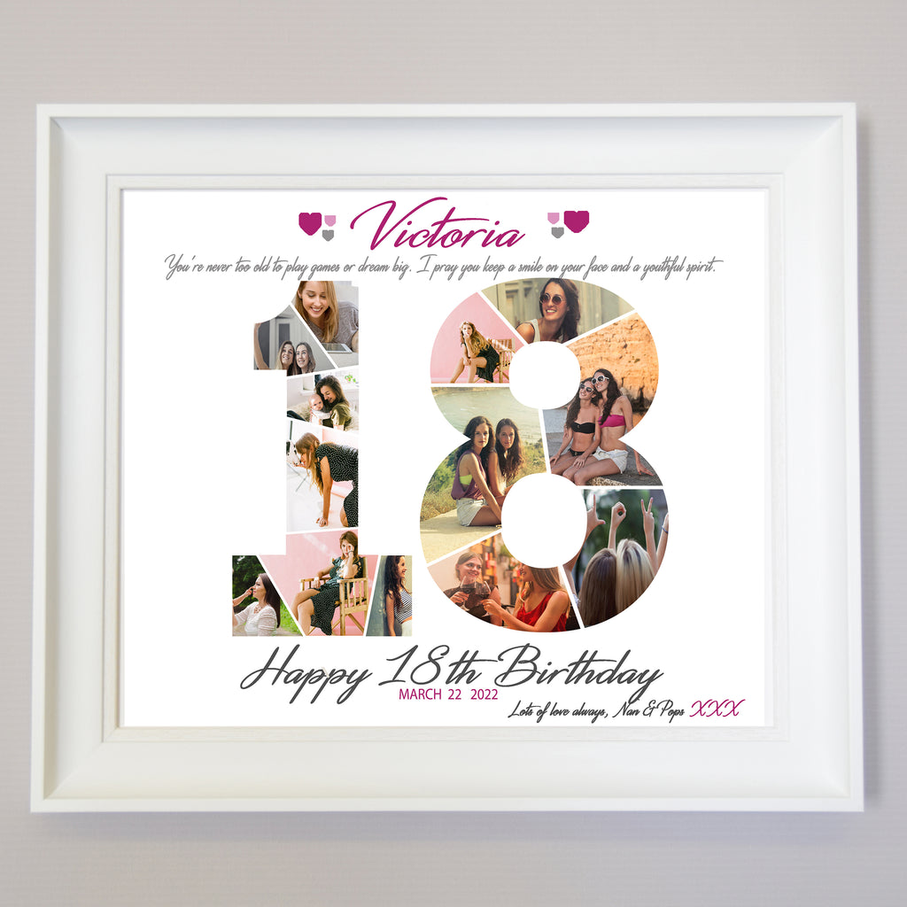 18th Birthday Framed Photo Collage