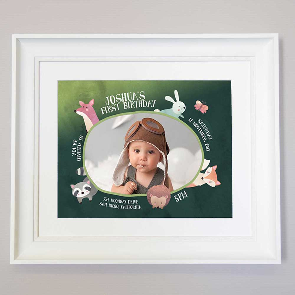 Aye Aye Captain Word Cloud Sentiment Gift Frame