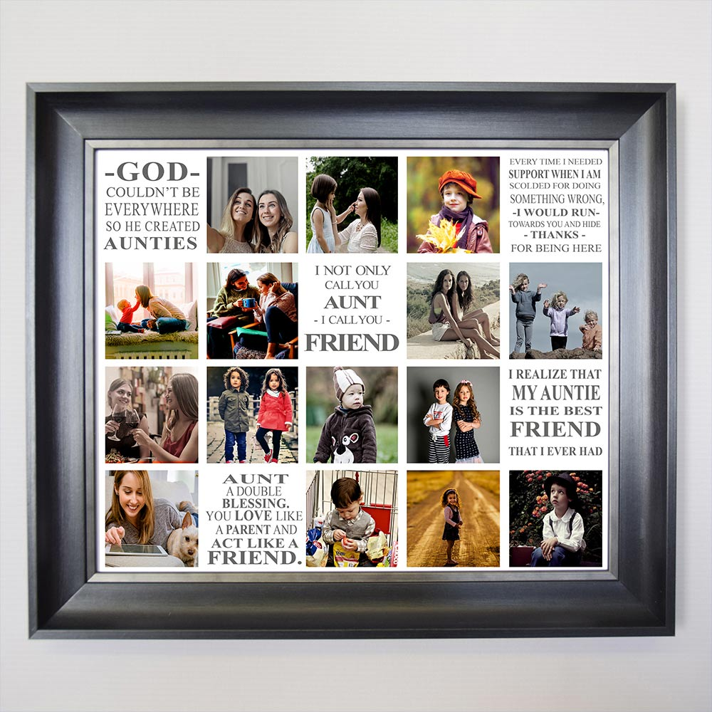 An Aunties Love Framed Photo Collage - Do More With Your Pictures