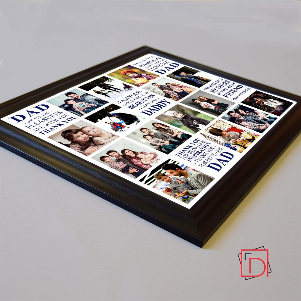 Love You Dad Memories Framed Photo Collage