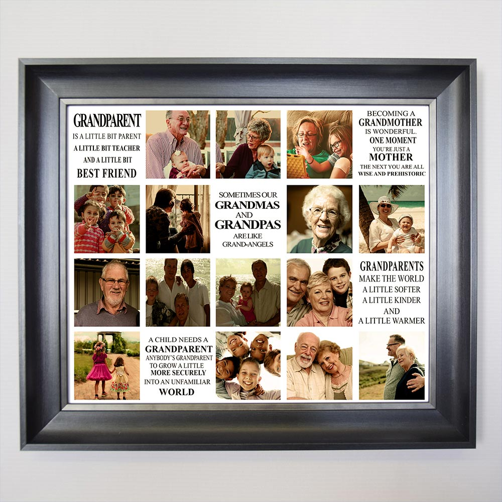 Grandparents Memories Framed Photo Collage - Do More With Your Pictures