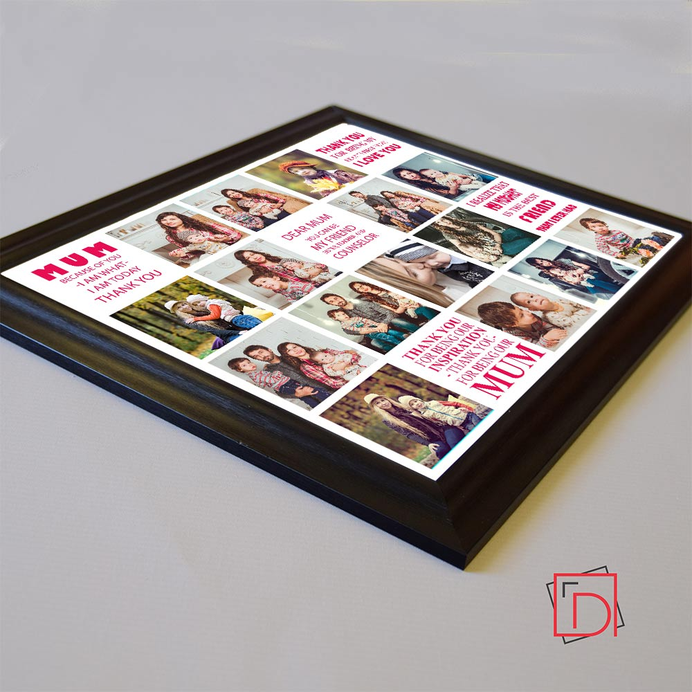 Love you Mum Memories framed Photo Collage