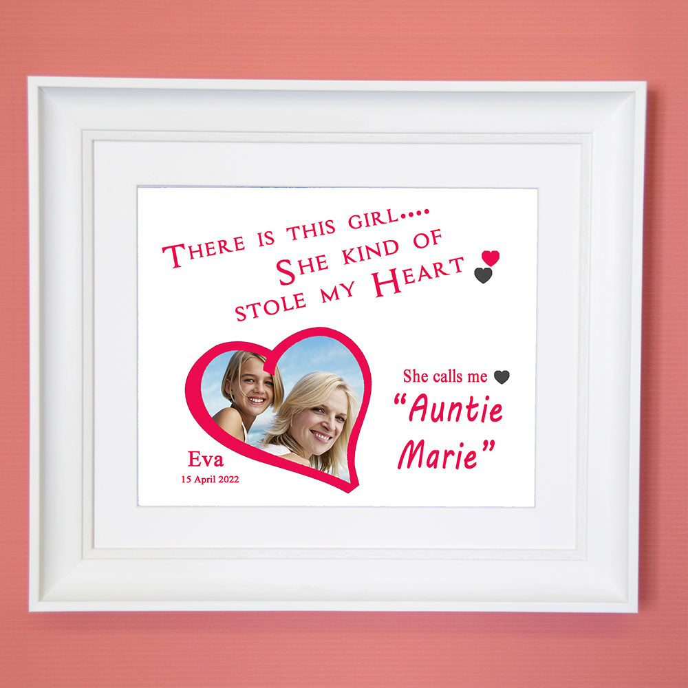 There is the Girl.. Sentiment Gift Frame