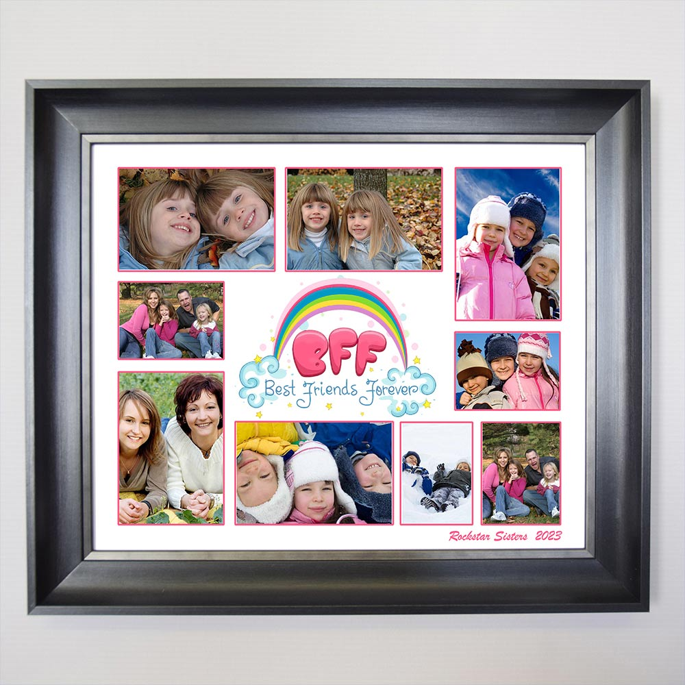 BFF - Best Friends Forever Framed Photo Collage - Do More With Your Pictures