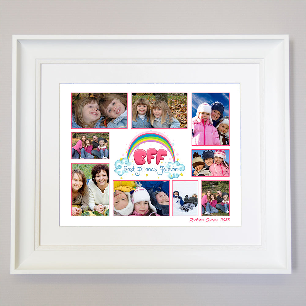 BFF - Best Friends Forever Framed Photo Collage
