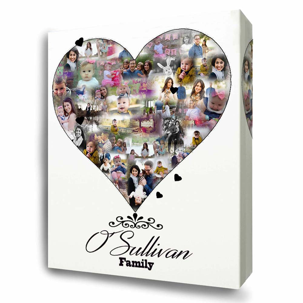 Our Family Love Photo Collage On Canvas