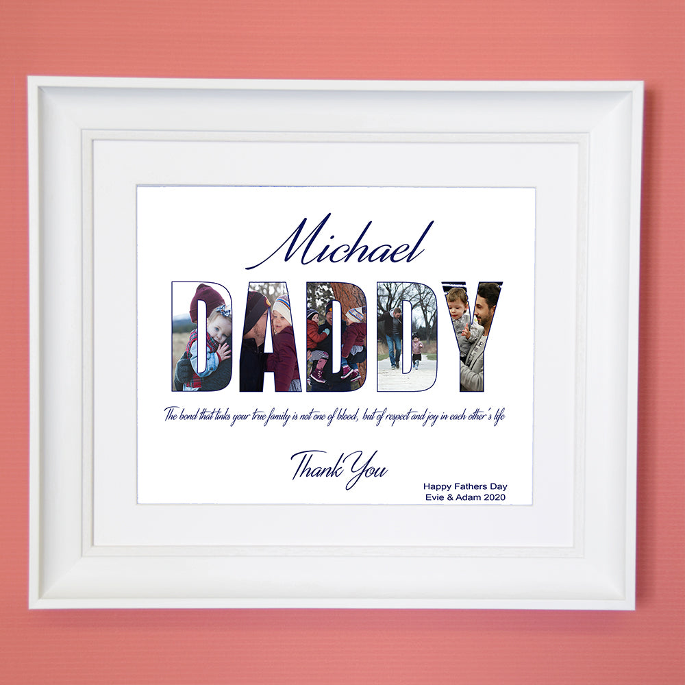 Dad Lettering To You Wall Art - Do More With Your Pictures