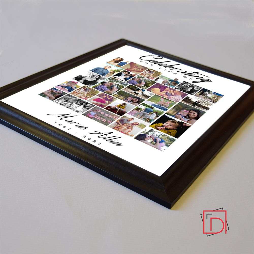 Celebrating Life Of Memorial Framed Photo Collage - Do More With Your Pictures