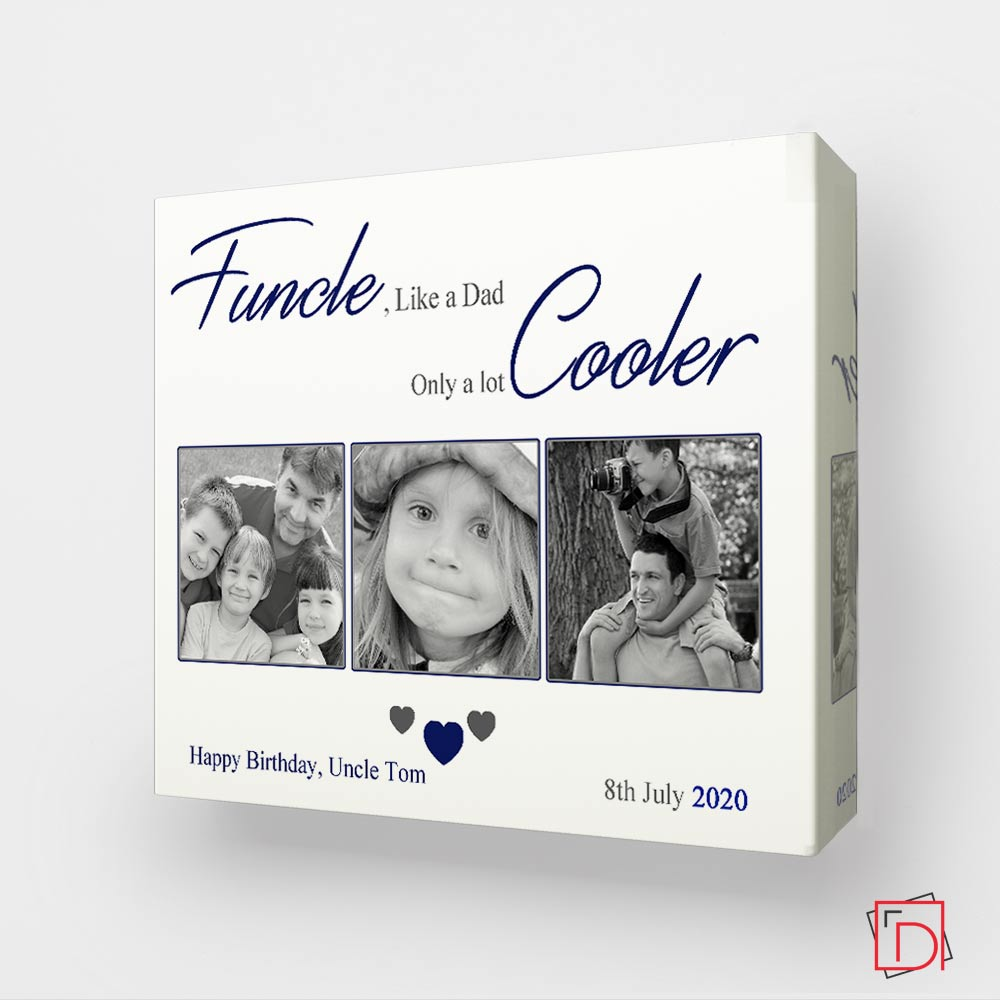 Uncle, Alot Cooler Dad Sentiment Gift Frame