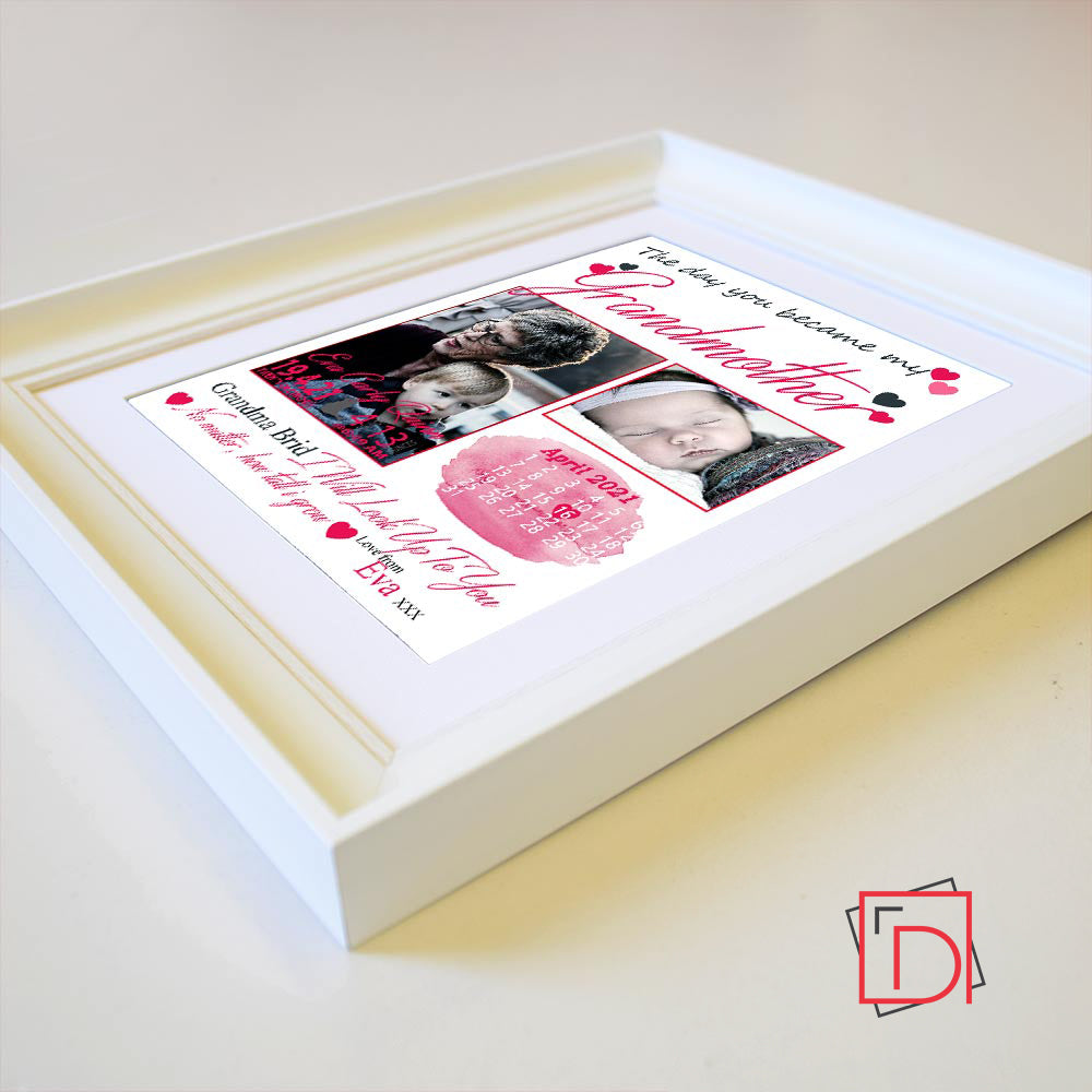 Grandmother The Day You Became My Sentiment Gift Frame - Do More With Your Pictures