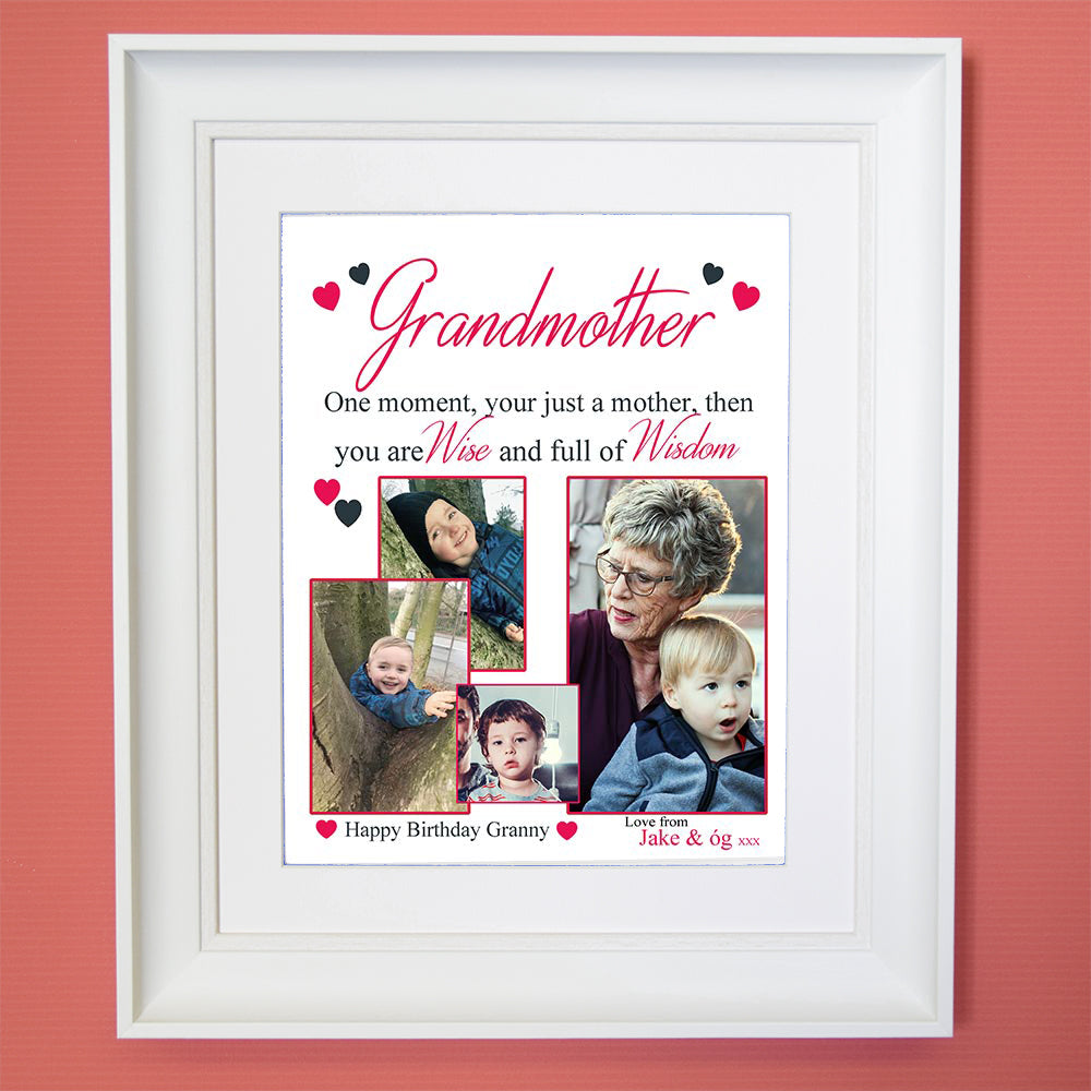 Grandmother I Will Look Up To You Sentiment Wall Art - Do More With Your Pictures
