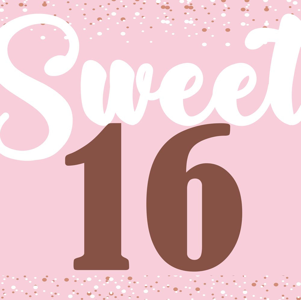 Sweet Sixteen Birthday Party Personalised Photo Banner