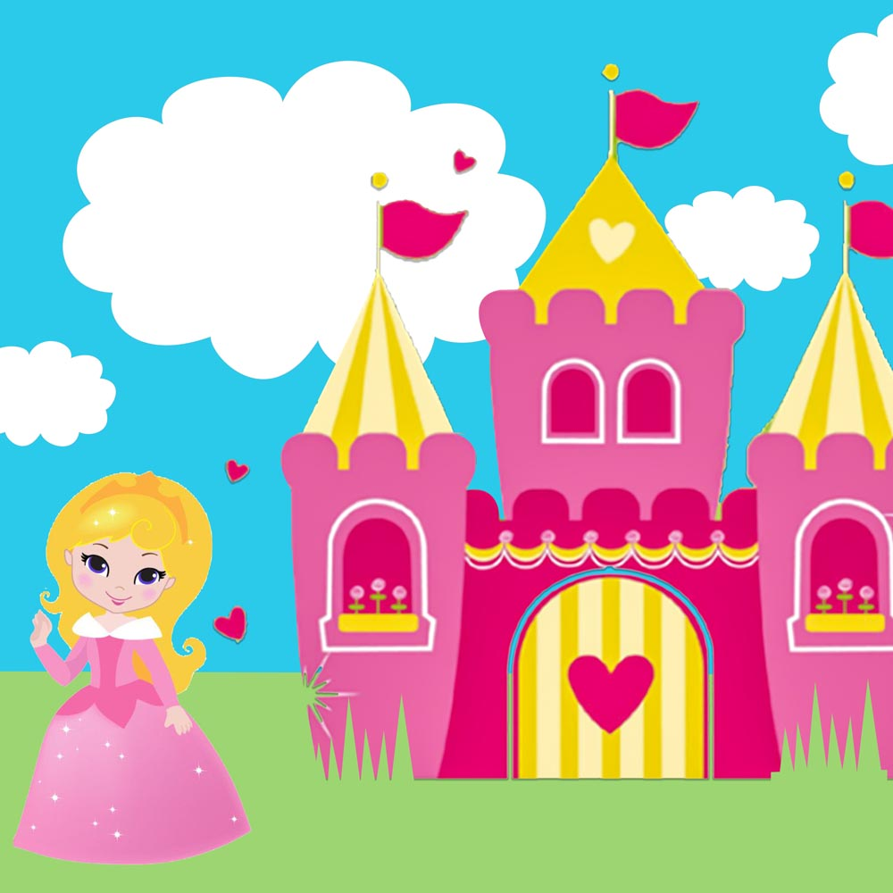Princess Day Party Personalised Photo Banner