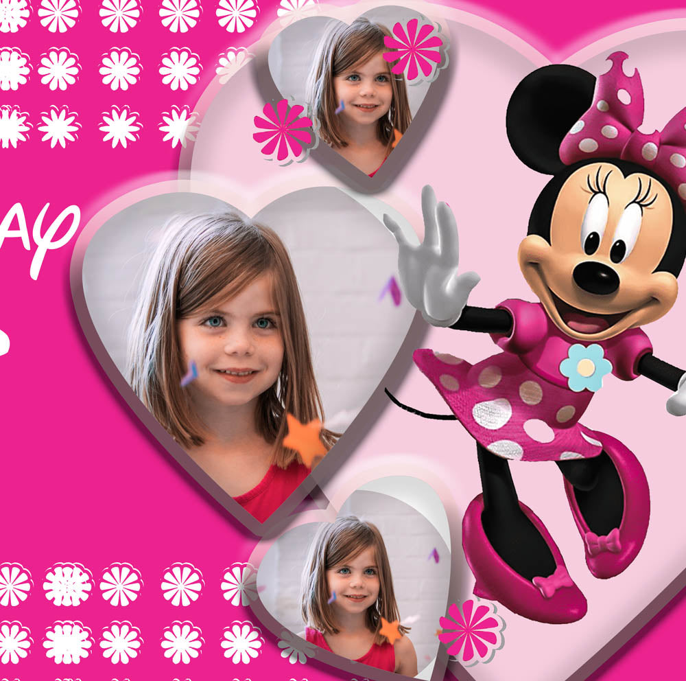 Minnie Mouse Disney Birthday Party Personalised Photo Banner