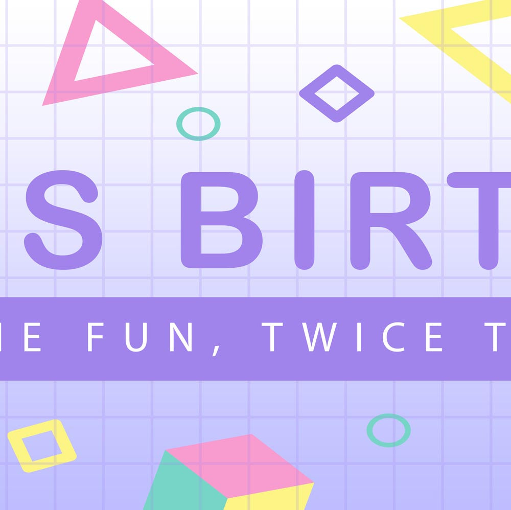 Geometric Birthday Party Personalised Photo Banner