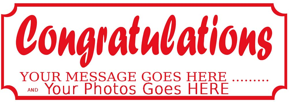 Congratulations Party Personalised photo Banner