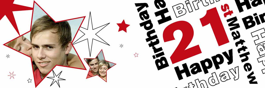 Its My 21st Party Personalised Photo Banner
