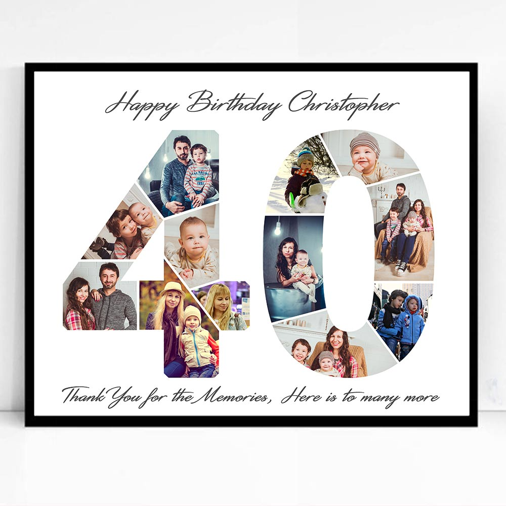 40th Birthday Framed Photo Collage - Do More With Your Pictures