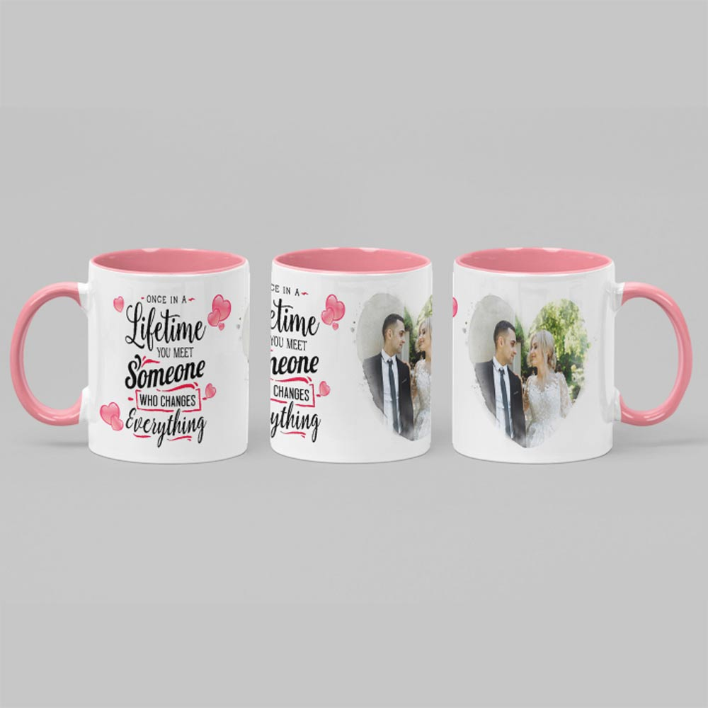 Once In A Lifetime couples Personalised Photo mug