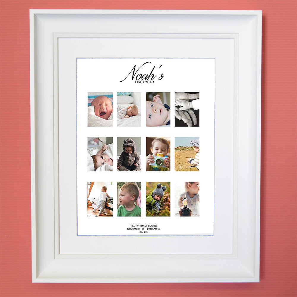 Amore 1st Year Photo Collage Wall Art - Do More With Your Pictures