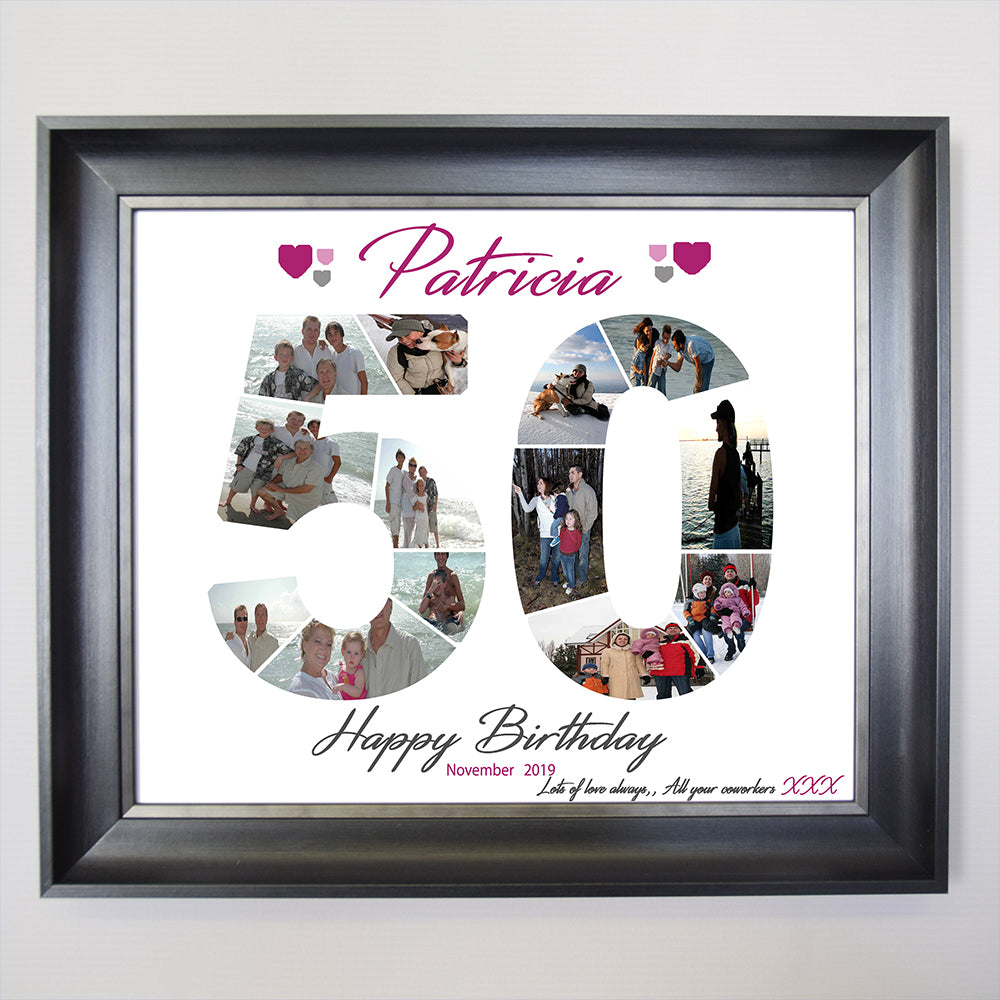 50th Birthday Sentiment Gift Frame