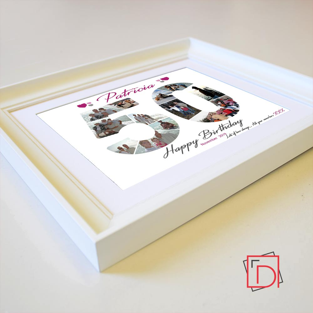 50th Birthday Sentiment Gift Frame - Do More With Your Pictures