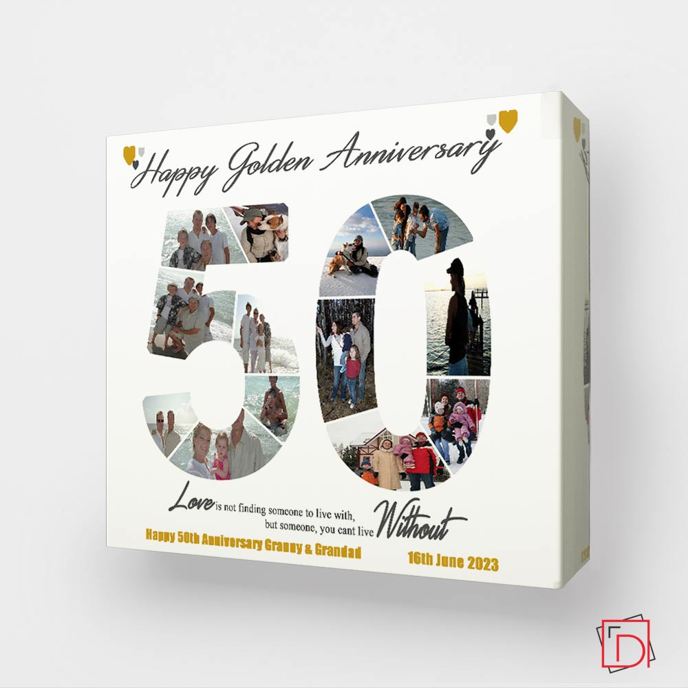 50th Golden Anniversary Sentiment Gift Frame - Do More With Your Pictures