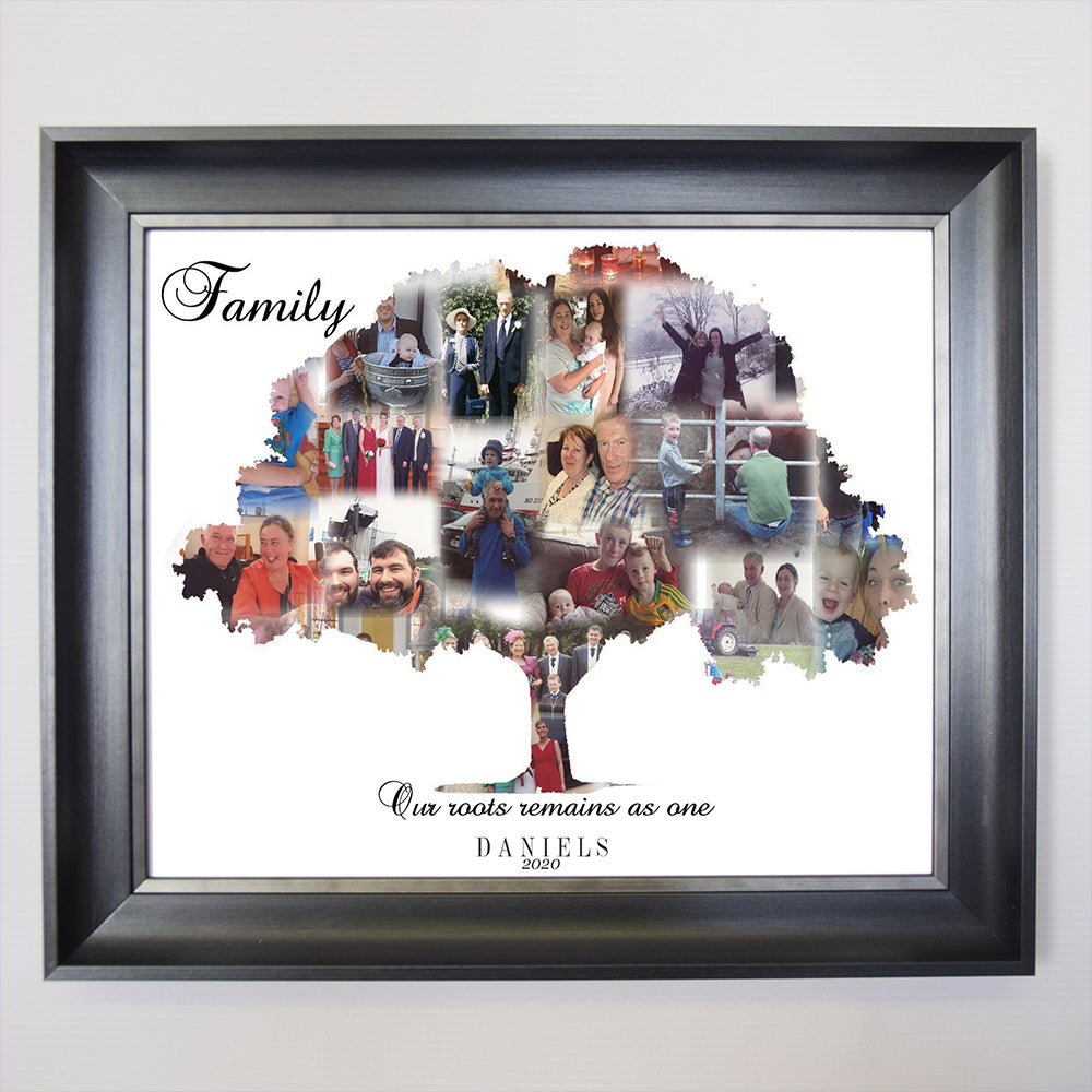 Family tree framed Photo Collage - Do More With Your Pictures