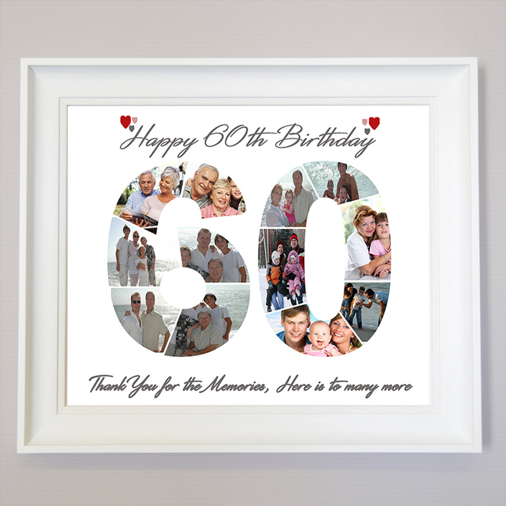 60th Birthday framed Photo Collage