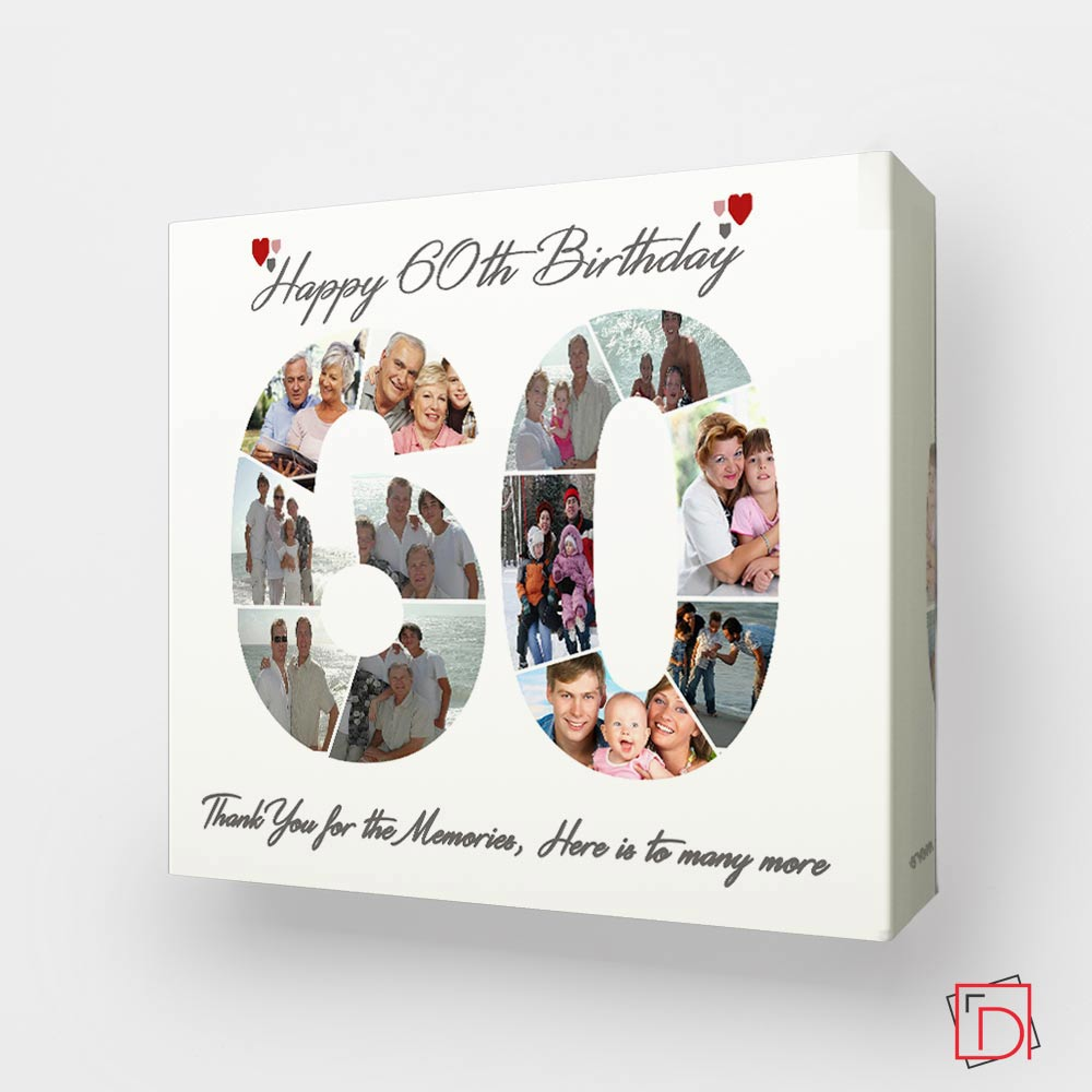 60th Birthday framed Photo Collage - Do More With Your Pictures