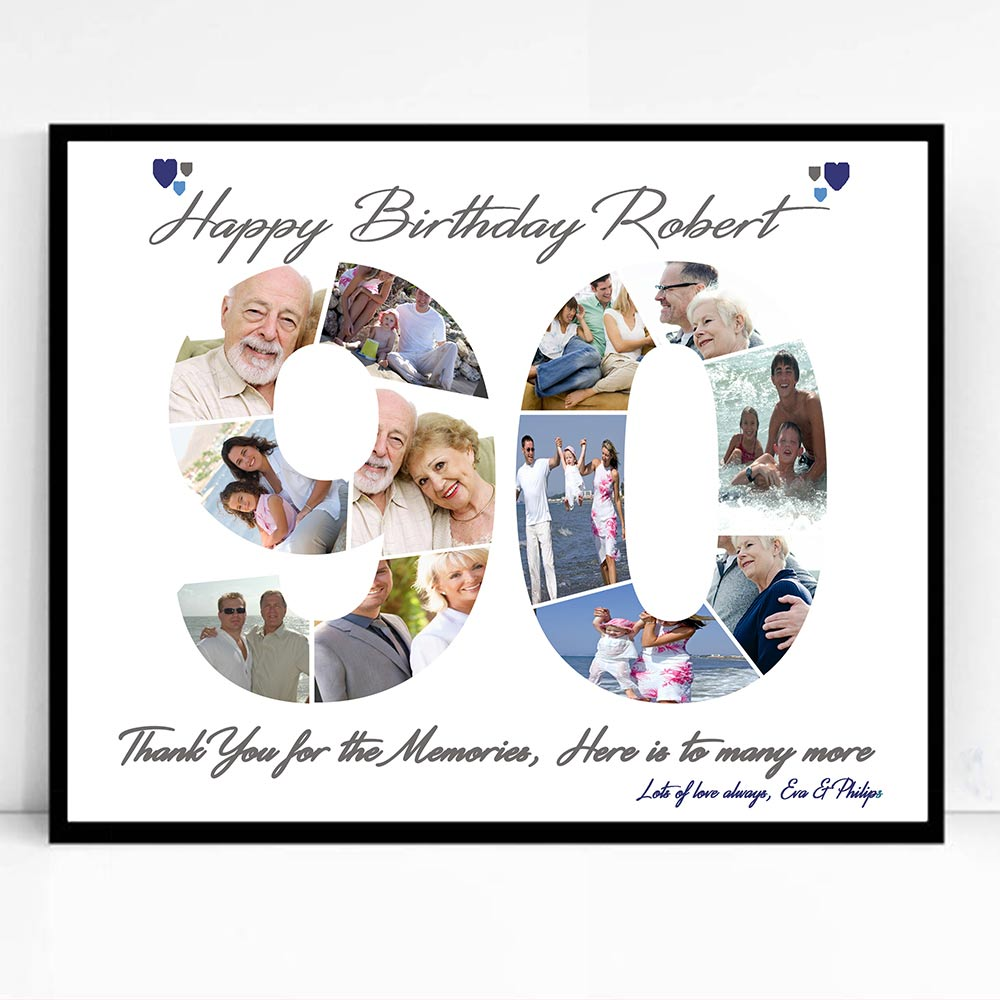 90th Birthday Celebration framed Photo Collage - Do More With Your Pictures